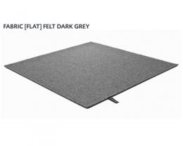 FABRIC (FLAT) FELT dark grey 8481