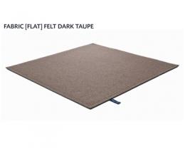 FABRIC (FLAT) FELT dark taupe 8483