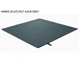 FABRIC (FLAT) FELT azur grey 8482