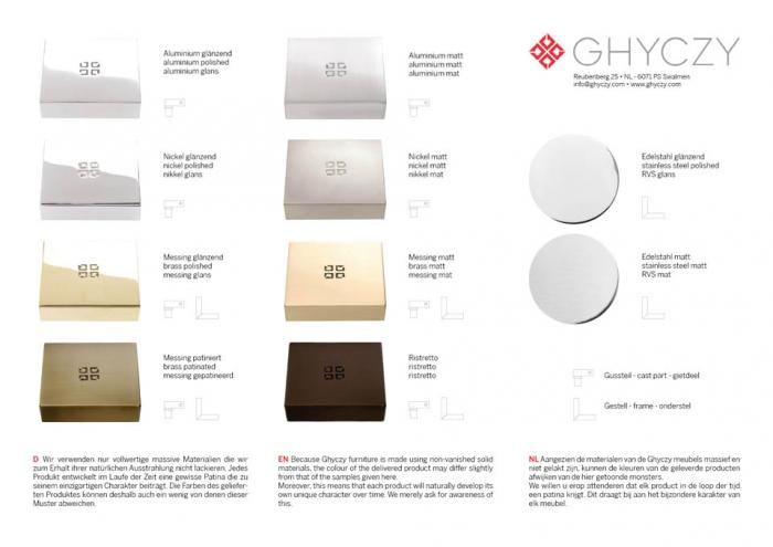 Ghyczy Esstisch ~ T3456 Esstisch von Ghyczy, Design Peter Ghyczy, 2010