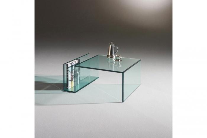 Janus vii couchtisch konsole von dreieck design design for Glas salontisch