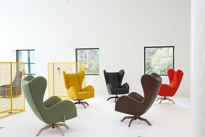 ohrensessel moderne form. Black Bedroom Furniture Sets. Home Design Ideas