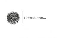 FIL DE FER 12V Eelektronisch, Bodenleuchte, D: 40 cm