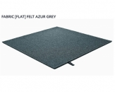 FABRIC (FLAT) FELT azur grey 8482