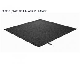 FABRIC (FLAT) FELT black mélange 8486