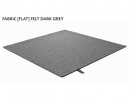 FABRIC (FLAT) FELT dark grey 8481