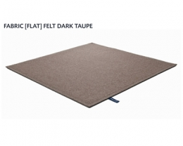FABRIC (FLAT) FELT dark taupe 8483