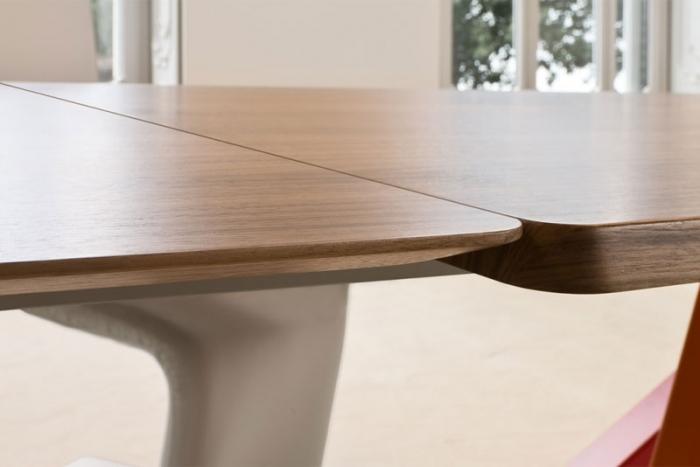 BIG TABLE Esstisch mit Auszug von BONALDO, Design Alain Gilles