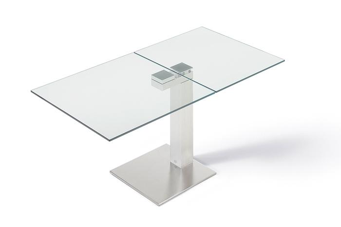 Mondial 1130 ii esstisch ausziehbar von draenert design for Esstisch ausziehbar glas