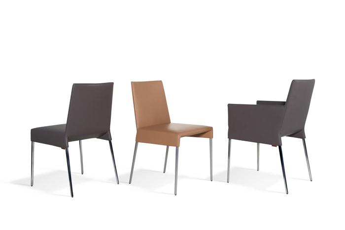 Mila a stuhl mit arm von montis for Design stuhl range