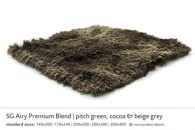 SG AIRY PREMIUM BLEND pitch green, cocoa & beige grey 5558