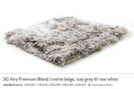 SG AIRY PREMIUM BLEND creme beige, icey grey & raw white 5562