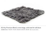 SG AIRY PREMIUM BLEND creme beige, solid steel & wild dove 5561