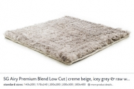 SG AIRY PREMIUM BLEND LOW CUT creme beige, icey grey & raw white