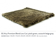 SG AIRY PREMIUM BLEND LOW CUT pitch green, cocoa & beige grey 54