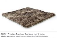 SG AIRY PREMIUM BLEND LOW CUT beige grey & cocoa 5454
