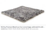 SG AIRY PREMIUM BLEND LOW CUT creme beige, solid steel & wild do