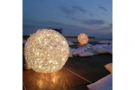 FIL DE FER Outdoor IP65 LED, Bodenleuchte, D: 70 cm